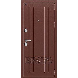 Входная дверь T2-232 Антик Медь/Milk Oak