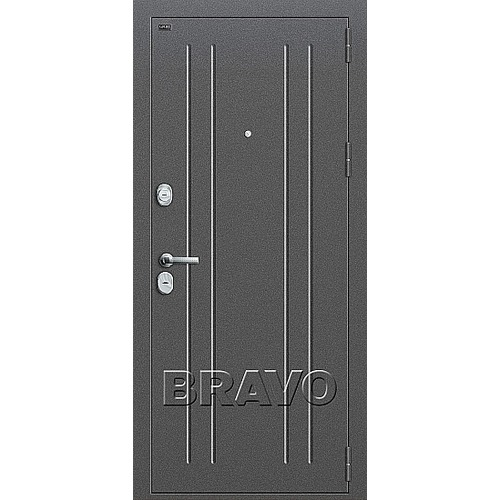 Входная дверь T2-232 Антик Серебро/Milk Oak