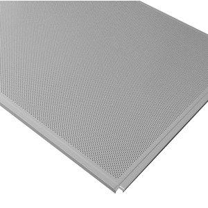 Кассетный потолок Cesal ОС Line Т-24 (Т-15) 595х595 Металлик AL 0,45мм 36шт/кор. Перф. Fd = 2.0