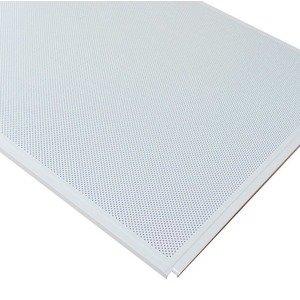 Кассетный потолок Cesal ОС Line Т-24 (Т-15) 595х595 Белый матовый 3306 AL 0,32мм 36шт/кор. Перф. Fd = 1.8